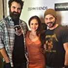 Joe Lynch, Laura Ortiz, and Adam Green at the Los Angeles premiere of Digging Up The Marrow.