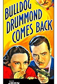 John Barrymore, Louise Campbell, and John Howard in Bulldog Drummond Comes Back (1937)