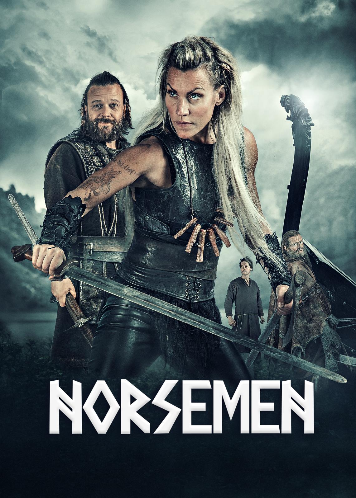 Trond Fausa, Kåre Conradi, Henrik Mestad, and Silje Torp in Norsemen (2016)