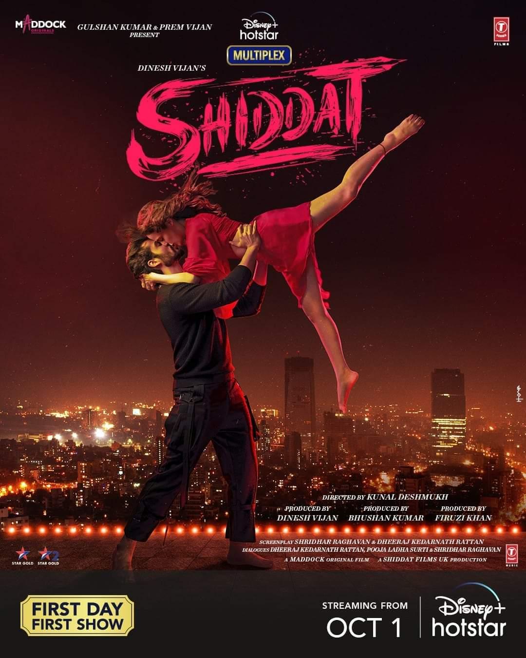 Shiddat 2021 Hindi Full Movie Official Trailer 1080p HDRip