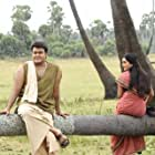 Mohanlal and Manju Warrier in Odiyan (2018)