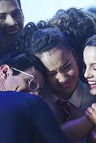 Matt Cornett, Olivia Rodrigo, Frankie A. Rodriguez, Joshua Bassett, and Sofia Wylie in High School Musical: The Musical - The Series (2019)