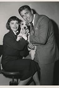 Phyllis Kirk, Peter Lawford, and Asta in The Thin Man (1957)