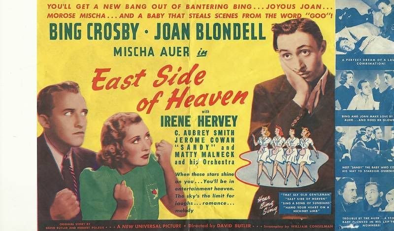 Image result for East Side of Heaven 1939 poster