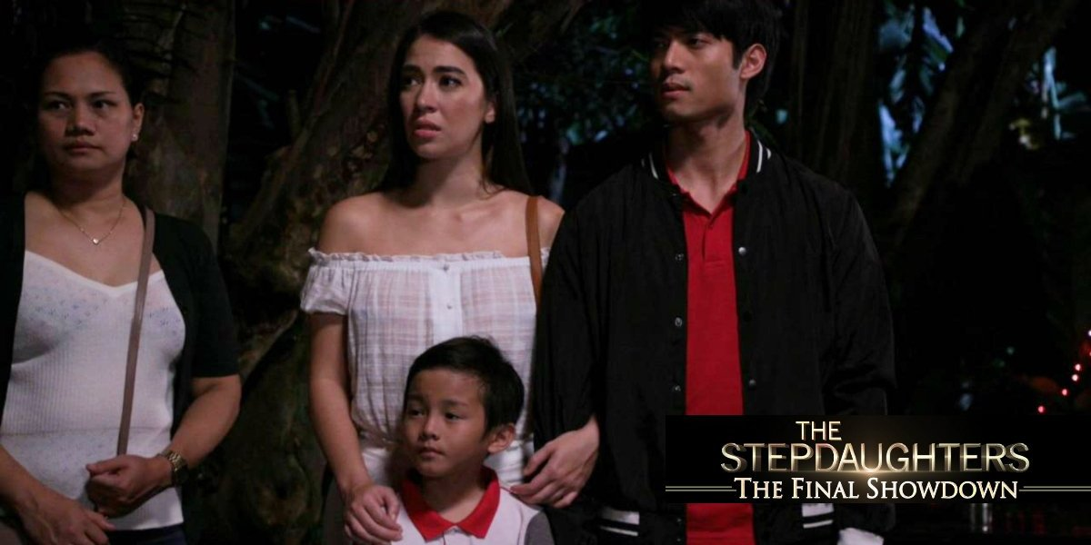 Madeleine Humphries, Mikael Daez, and Khaine Dela Cruz in The Stepdaughters (2018)