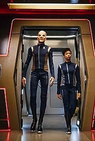 Doug Jones and Sonequa Martin-Green in Star Trek: Discovery (2017)