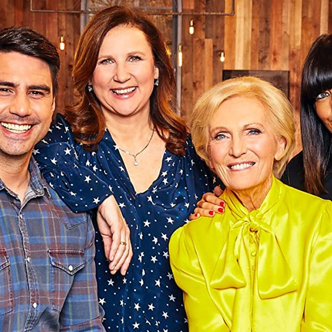Claudia Winkleman, Angela Hartnett, Mary Berry, and Chris Bavin in Britain's Best Home Cook (2018)