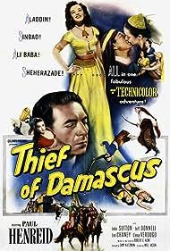 Paul Henreid, Jeff Donnell, Helen Gilbert, and Elena Verdugo in Thief of Damascus (1952)