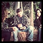 """With Sean Astin and Savannah Jayde on the set of """"Amazing Love"""""""