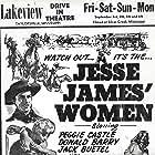 Lita Baron, Jack Buetel, and Peggie Castle in Jesse James' Women (1954)