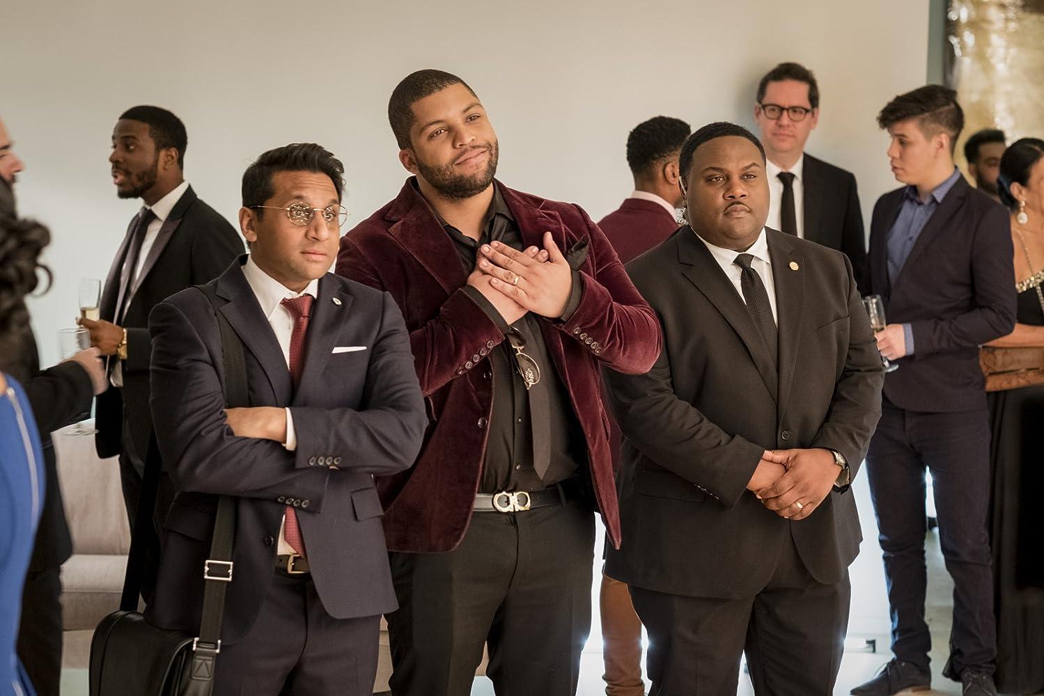 Tristan D. Lalla, Ravi Patel, and O'Shea Jackson Jr. in Long Shot (2019)