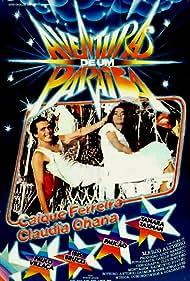 Caíque Ferreira and Claudia Ohana in Aventuras de um Paraíba (1982)