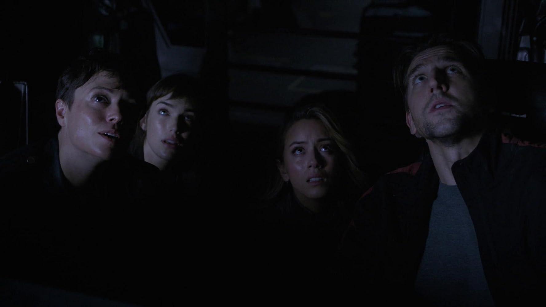 Maximilian Osinski, Briana Venskus, Chloe Bennet, and Elizabeth Henstridge in Agents of S.H.I.E.L.D. (2013)