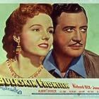 Richard Dix and Jane Wyatt in Buckskin Frontier (1943)