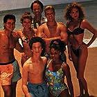 Elizabeth Berkley, Mark-Paul Gosselaar, Tiffani Thiessen, Dustin Diamond, Dennis Haskins, Mario Lopez, and Lark Voorhies in Saved by the Bell: Hawaiian Style (1992)
