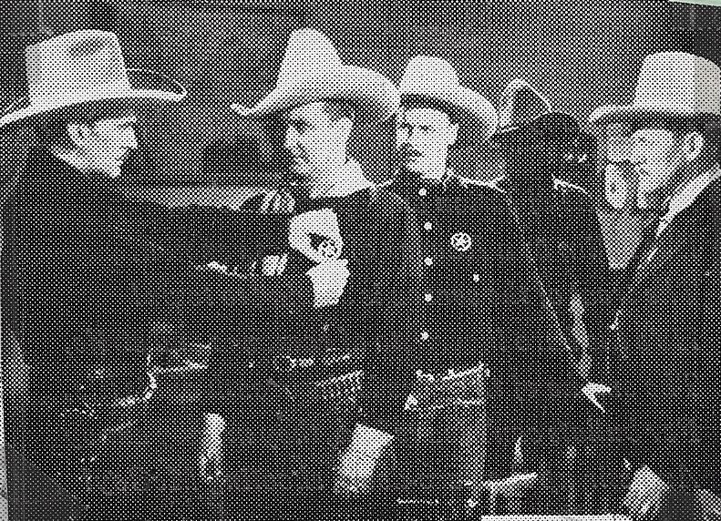 Tim McCoy, Karl Hackett, Jack Rockwell, Hal Taliaferro, and Jack Hendricks in The Traitor (1936)