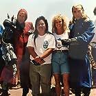 Lance Henriksen, Albert Pyun, Kathy Long, and Scott Paulin in Knights (1993)