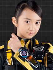 Arisa Komiya in Tokumei Sentai Gôbasutâzu (2012)