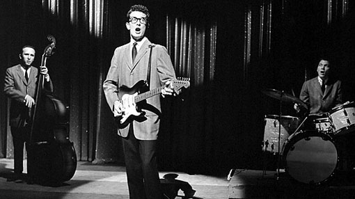 Jerry Allison, Buddy Holly, Joe B. Mauldin, and The Crickets in Toast of the Town (1948)