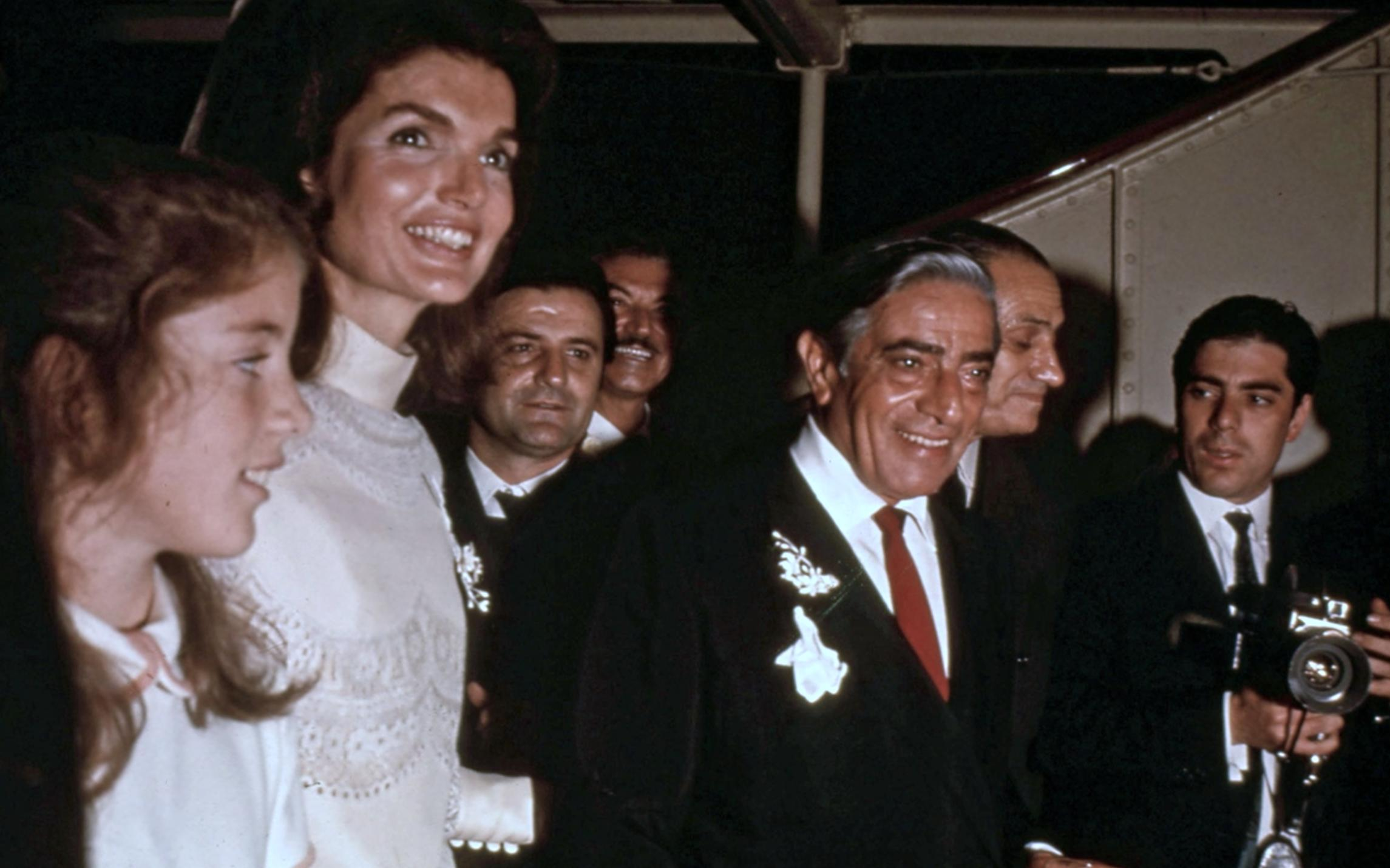 Caroline Kennedy, Jacqueline Kennedy, and Aristotle Onassis in A Tale of Two Sisters (2015)