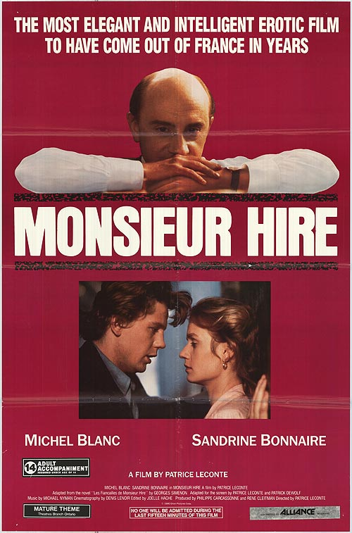 Michel Blanc, Sandrine Bonnaire, and Luc Thuillier in Monsieur Hire (1989)