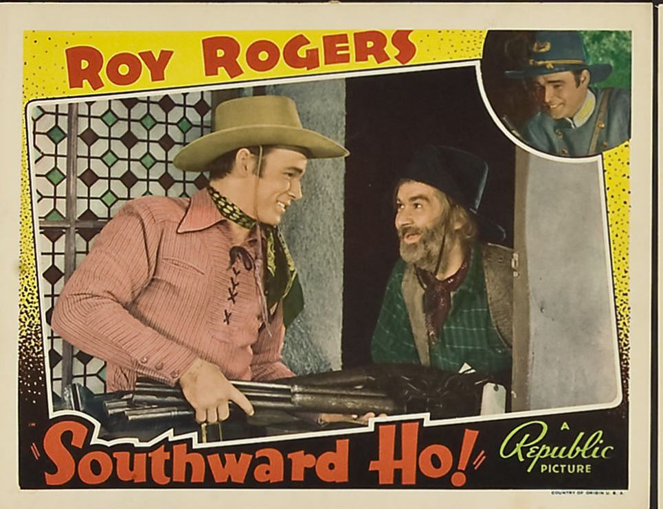 Roy Rogers and George 'Gabby' Hayes in Southward Ho! (1939)