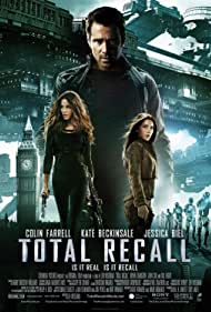 Kate Beckinsale, Jessica Biel, and Colin Farrell in Total Recall (2012)
