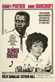 Anne Bancroft and Sidney Poitier in The Slender Thread (1965)