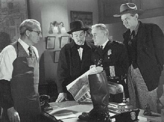Charles D. Brown, Edwin Stanley, Slim Summerville, and Sidney Toler in Charlie Chan in Reno (1939)