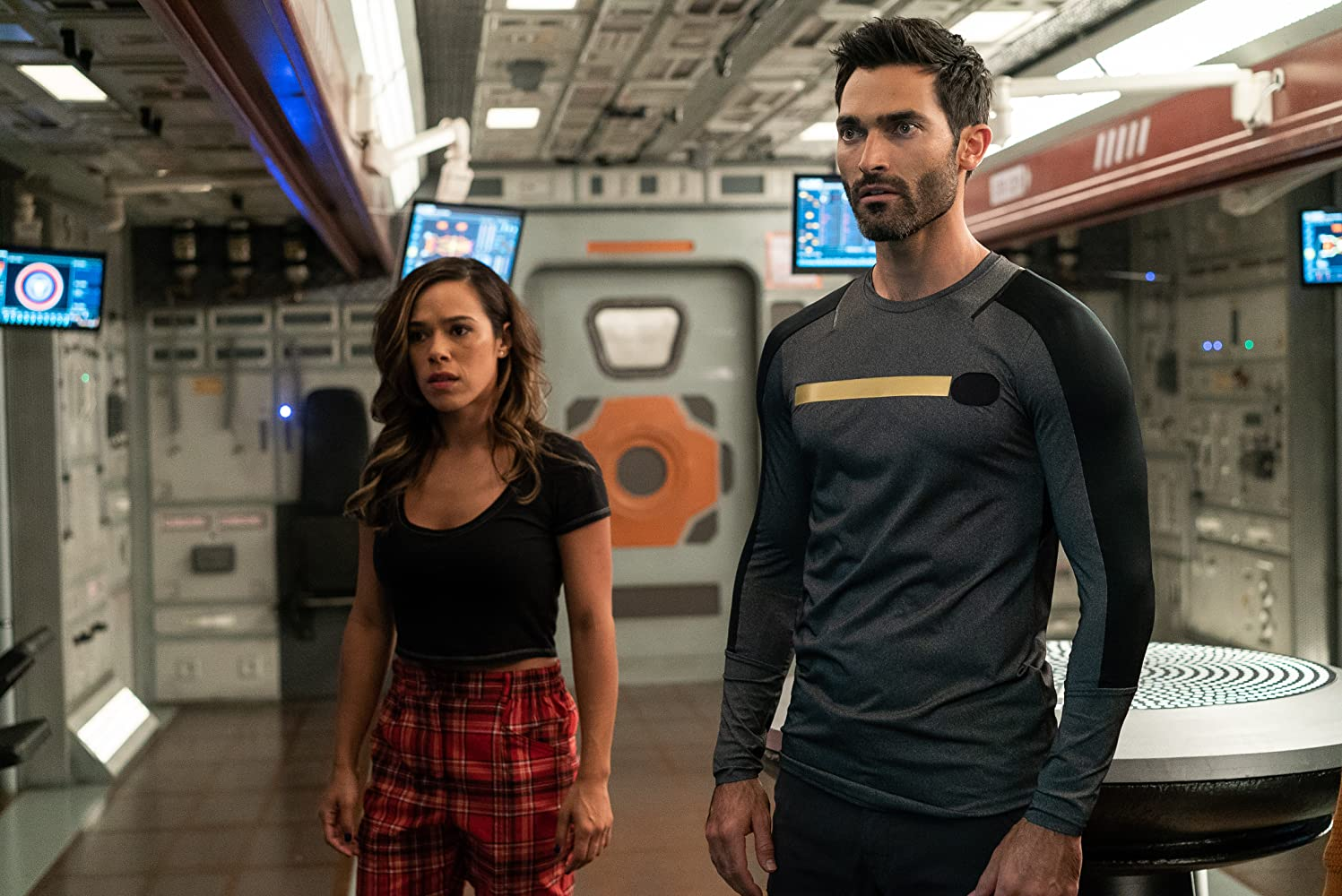 Tyler Hoechlin and Jessica Camacho in Another Life (2019)