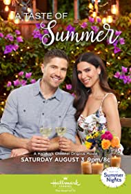 Roselyn Sanchez and Eric Winter in A Taste of Summer (2019)