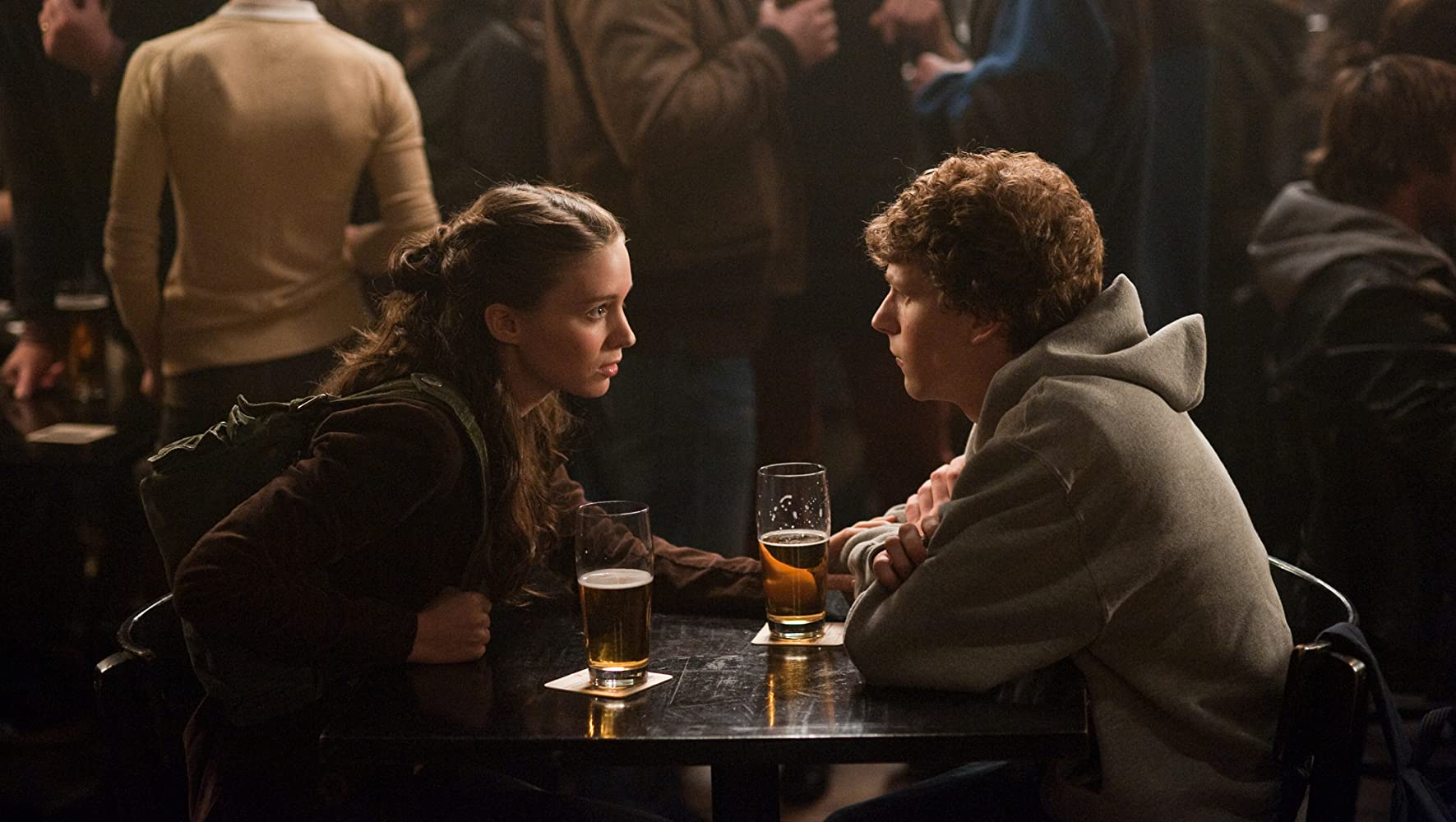 Jesse Eisenberg and Rooney Mara in The Social Network (2010)