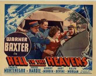 Warner Baxter, Russell Hardie, Conchita Montenegro, and William Stelling in Hell in the Heavens (1934)