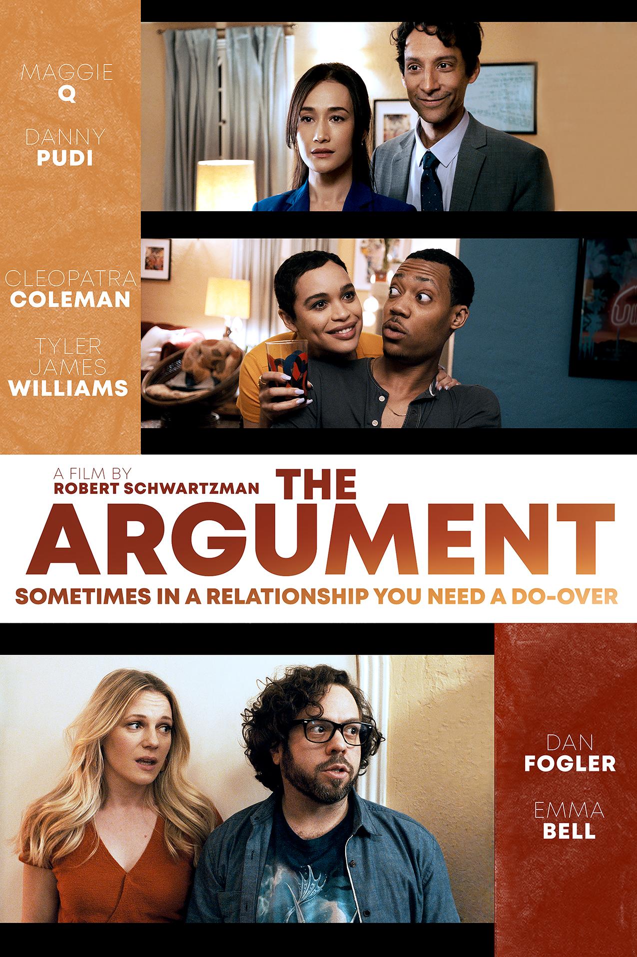 Emma Bell, Dan Fogler, Maggie Q, Cleopatra Coleman, Tyler James Williams, and Danny Pudi in The Argument (2020)