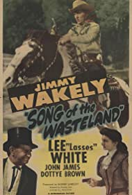 Dottye Brown, Jimmy Wakely, and Lee 'Lasses' White in Song of the Wasteland (1947)