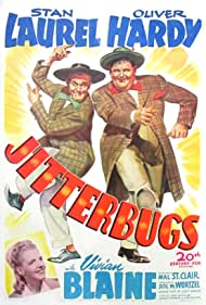 Oliver Hardy, Vivian Blaine, and Stan Laurel in Jitterbugs (1943)