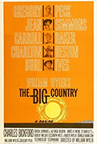 Charlton Heston, Gregory Peck, Jean Simmons, Carroll Baker, and Burl Ives in The Big Country (1958)