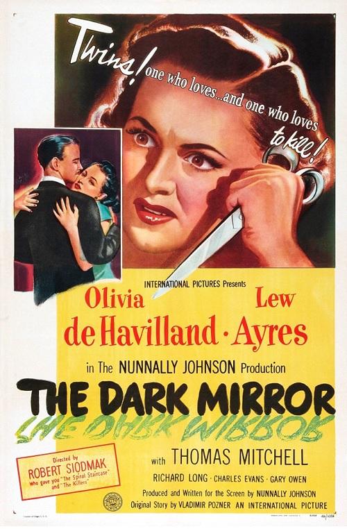 Olivia de Havilland and Lew Ayres in The Dark Mirror (1946)