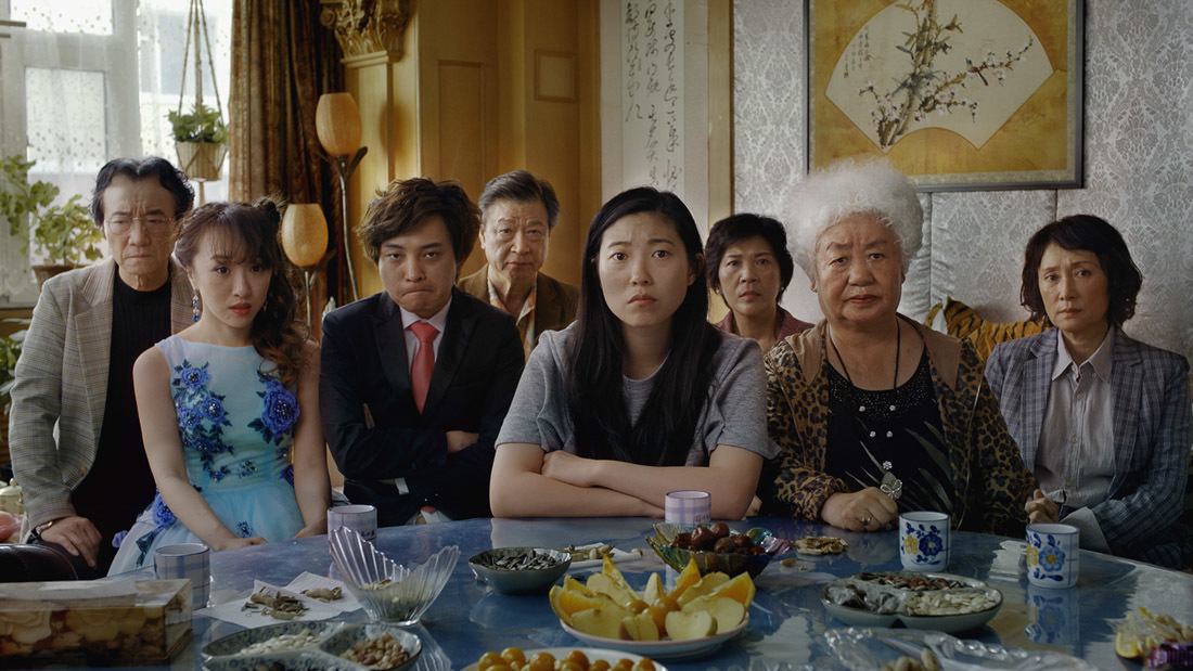 Han Chen, Aoi Mizuhara, Diana Lin, and Awkwafina in The Farewell (2019)