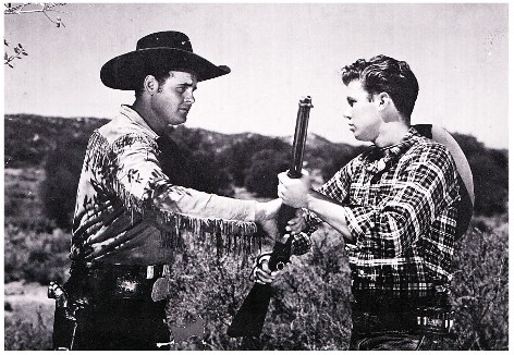 Sunset Carson and Al Terry in Fighting Mustang (1948)
