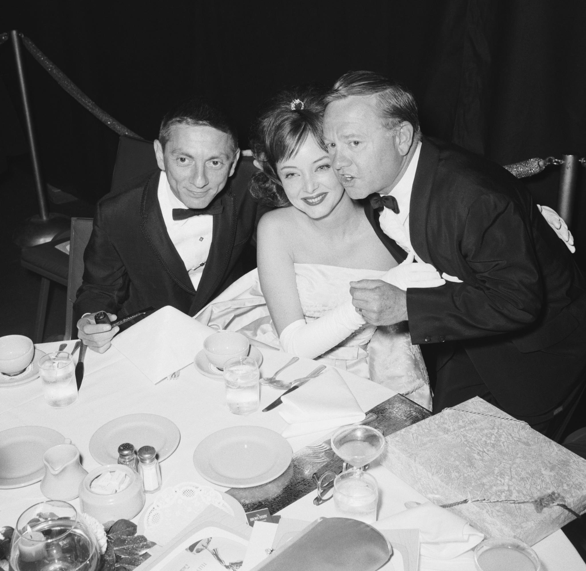 Mickey Rooney, Aaron Spelling, and Carolyn Jones