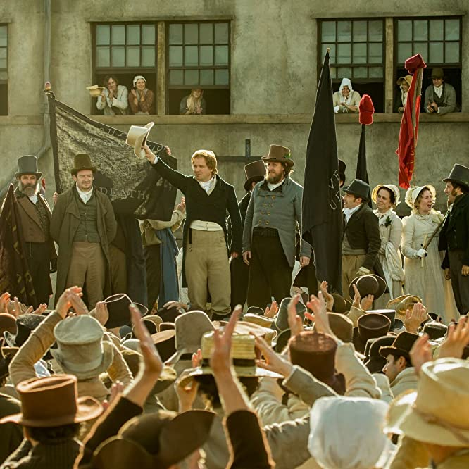 Neil Bell, John-Paul Hurley, Philip Jackson, Rory Kinnear, and Tom Gill in Peterloo (2018)