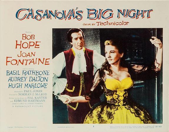 Joan Fontaine and Basil Rathbone in Casanova's Big Night (1954)