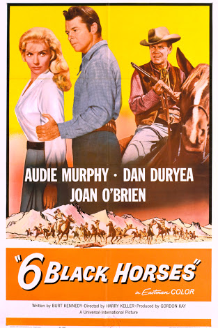 Audie Murphy, Dan Duryea, and Joan O'Brien in Six Black Horses (1962)