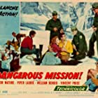 Piper Laurie, Victor Mature, and Walter Reed in Dangerous Mission (1954)