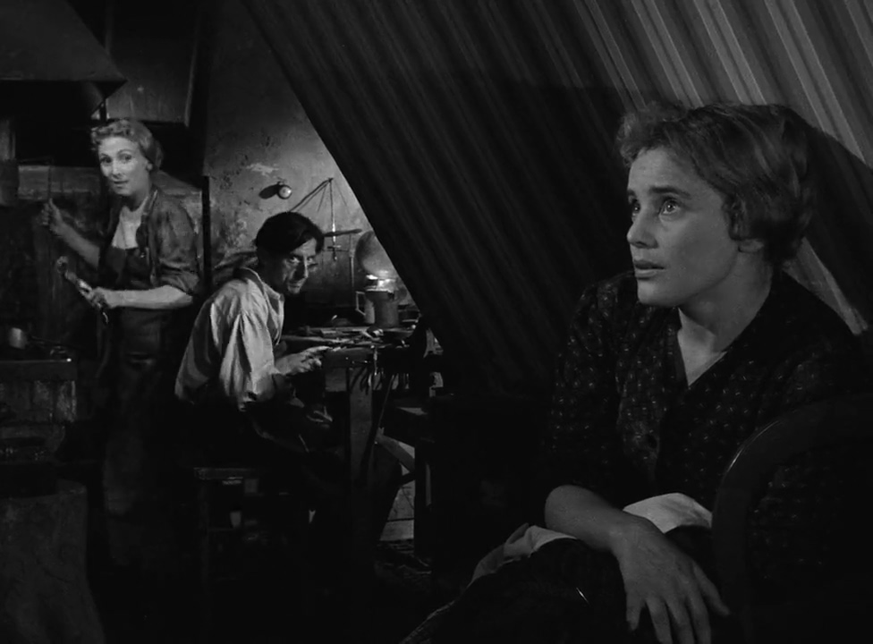 Jany Holt, Hubert de Lapparent, and Maria Schell in Gervaise (1956)