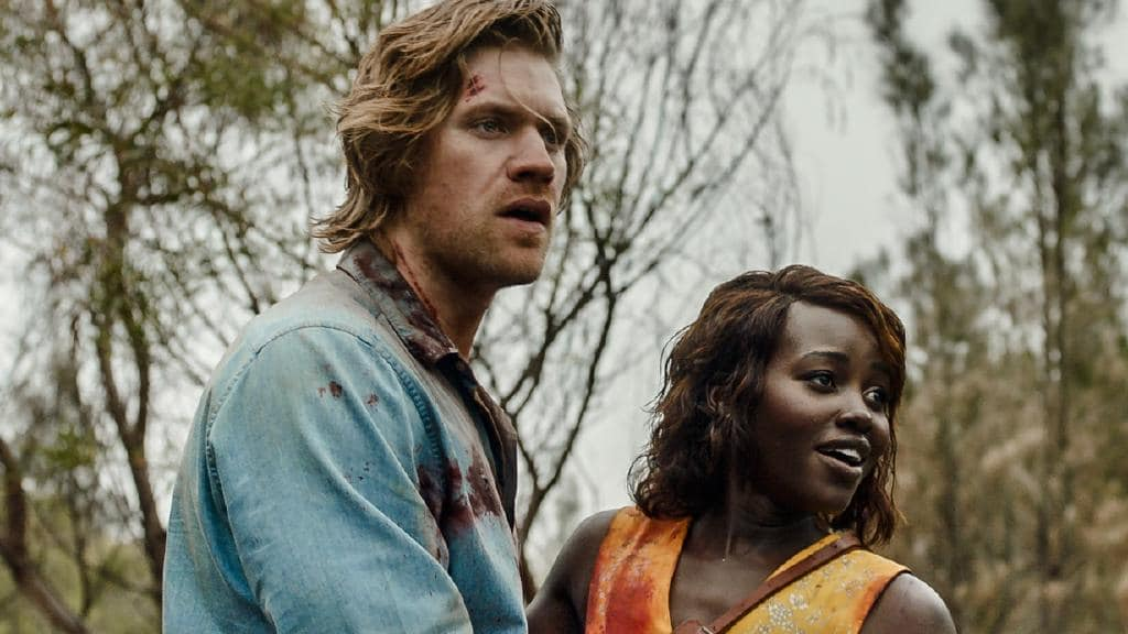 Alexander England and Lupita Nyong'o in Little Monsters (2019)