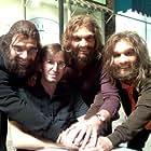 Tony Gardner, Sam Huntington, Nick Kroll, and Bill English in Cavemen (2007)