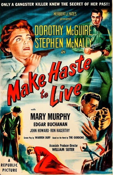 Dorothy McGuire and Stephen McNally in Make Haste to Live (1954)