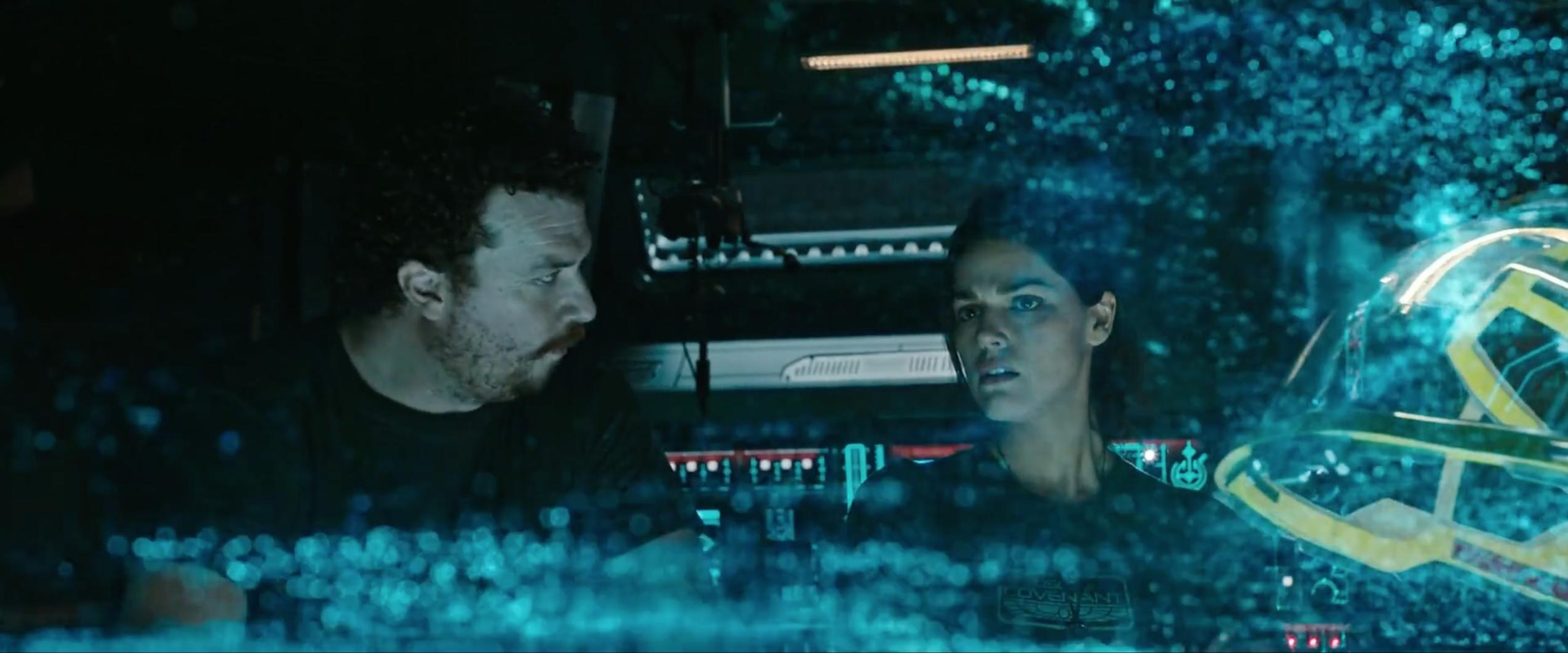 Danny McBride and Callie Hernandez in Alien: Covenant (2017)